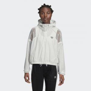 Укороченная ветровка Originals adidas. Цвет: белый