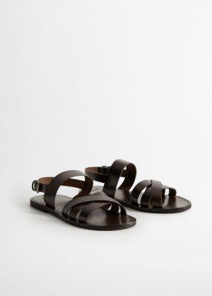 Кожаные сандалии с ремешками - Mallorca Mango. Цвет: шоколадный