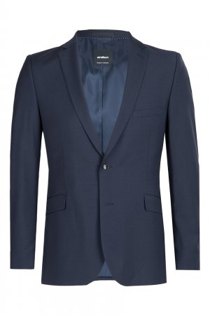 Классический темно-синий костюм-двойка Strellson. Цвет: синий