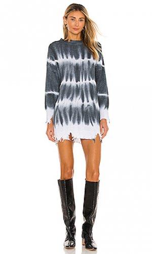 Вязаное платье shia superdown. Цвет: charcoal,white