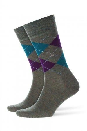 Трикотажные носки с рисунком аргайл Burlington. Цвет: зеленый