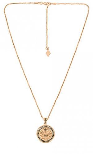 Колье с подвеской the loyalty Joy Dravecky Jewelry. Цвет: металлический золотой