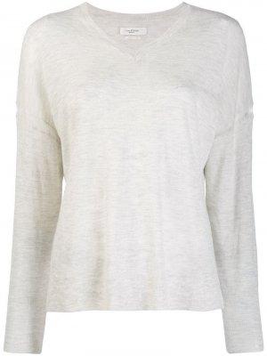 Классический пуловер с V-образным вырезом Isabel Marant Étoile. Цвет: нейтральные цвета