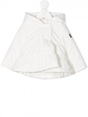 Двубортный пиджак Il Gufo. Цвет: белый