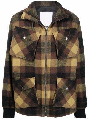 Plaid-check print jacket Kenzo. Цвет: коричневый