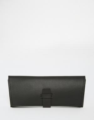 Leather Sunglasses Case In Black ASOS. Цвет: черный