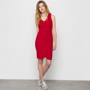 Платье офисное без рукавов La Redoute Collections. Цвет: черный