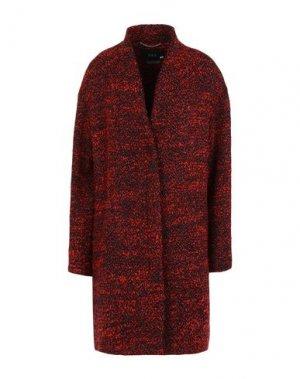 Пальто SET. Цвет: красный