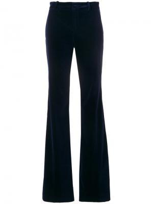 Классические расклешенные брюки Gucci. Цвет: синий