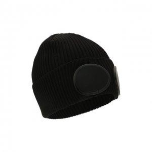Хлопковая шапка C.P. Company. Цвет: чёрный