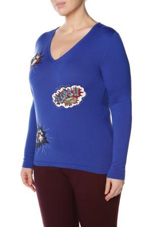 Пуловер LE FATE. Цвет: синий