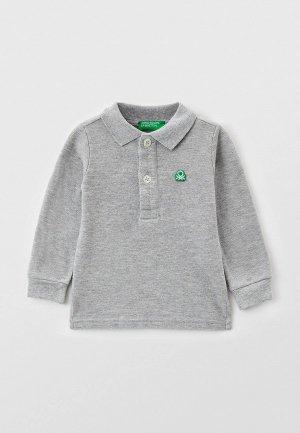 Поло United Colors of Benetton. Цвет: серый