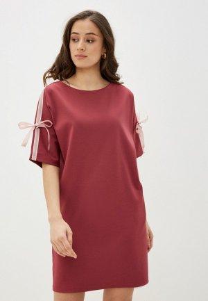 Платье Lautus. Цвет: бордовый