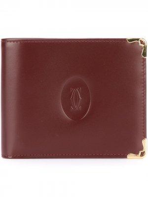 Бумажник с тисненым логотипом Cartier. Цвет: красный