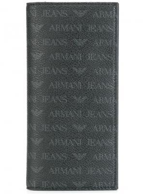 Monogrammed cardholder Armani Jeans. Цвет: черный