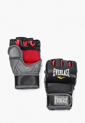 Перчатки боксерские Everlast Grappling. Цвет: черный