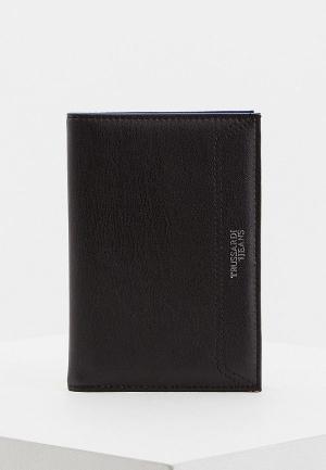 Обложка для паспорта Trussardi Jeans. Цвет: черный
