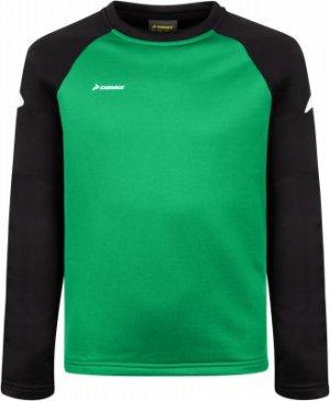 Джемпер футбольный для мальчиков , размер 152 Demix. Цвет: зеленый