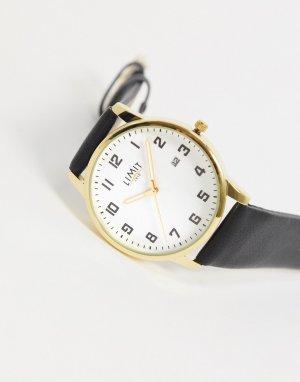 Часы с черным ремешком из искусственной кожи -Черный Limit