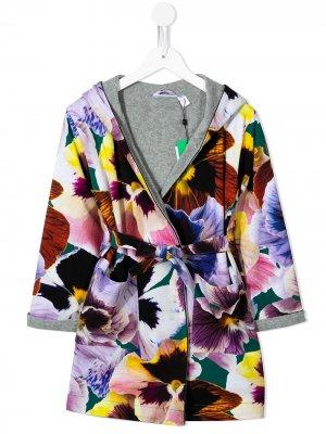 Куртка с капюшоном и цветочным принтом Molo. Цвет: разноцветный