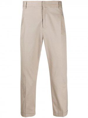 Укороченные брюки строгого кроя Daniele Alessandrini. Цвет: нейтральные цвета