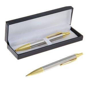 Ручка шариковая, подарочная, автоматическая, в кожзам футляре, Calligrata