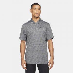 Мужская рубашка-поло в полоску для гольфа Dri-FIT Vapor - Серый Nike