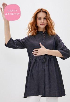 Блуза Olesya Zubova Fleur Russes. Цвет: серый