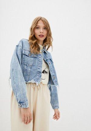 Куртка джинсовая Befree Exclusive online. Цвет: голубой