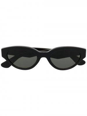 Солнцезащитные очки Drew в овальной оправе Retrosuperfuture. Цвет: черный