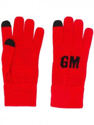 Трикотажные перчатки с логотипом MSGM. Цвет: красный
