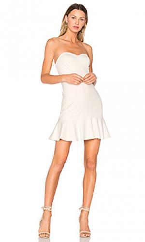 Платье rocky Amanda Uprichard. Цвет: белый