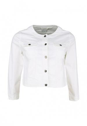Куртка джинсовая Ulla Popken. Цвет: белый