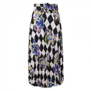 Плиссированная юбка Off-White. Цвет: разноцветный