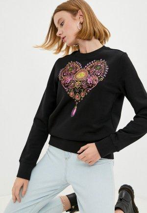 Свитшот Versace Jeans Couture. Цвет: черный
