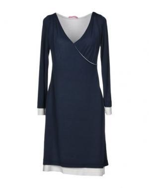 Короткое платье FRANCESCA FERRANTE. Цвет: темно-синий