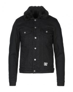 Джинсовая верхняя одежда CR7 CRISTIANO RONALDO. Цвет: черный