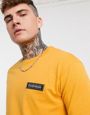Желтая футболка с логотипом-нашивкой -Желтый Napapijri