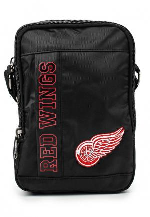 Сумка Atributika & Club™ NHL Detroit Red Wings. Цвет: черный