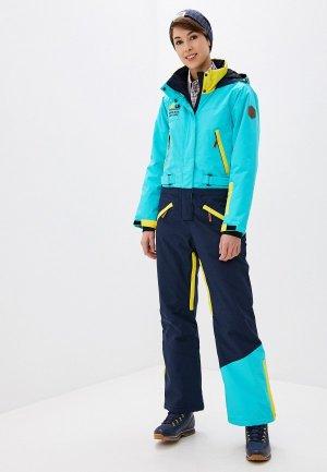 Комбинезон сноубордический High Experience. Цвет: разноцветный