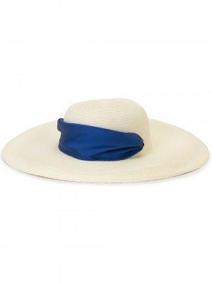 Шляпа с лентой Eugenia Kim. Цвет: белый
