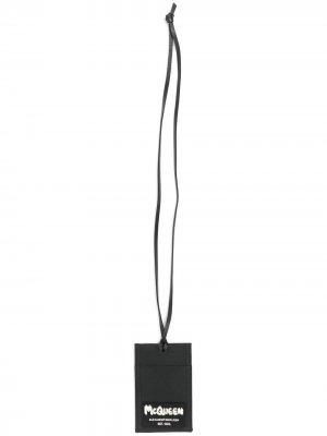Картхолдер со шнурком на шею Alexander McQueen. Цвет: черный