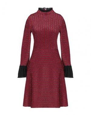 Короткое платье JANICE. Цвет: красный