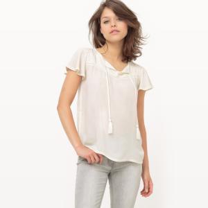 Блузка из вискозы KAPORAL. Цвет: белый