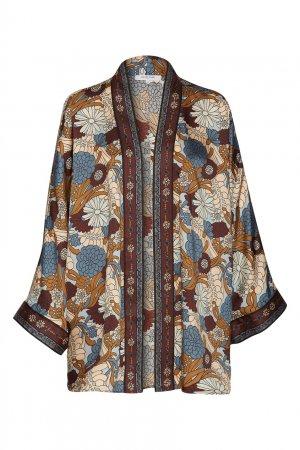 Блузка-туника цвета карамели с принтом Gerard Darel. Цвет: multicolor