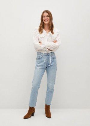 Прямые джинсы до щиколотки - Havana Mango. Цвет: светло-синий