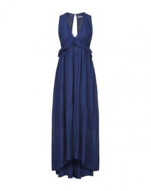 Платье длиной 3/4 EMMA & GAIA. Цвет: синий