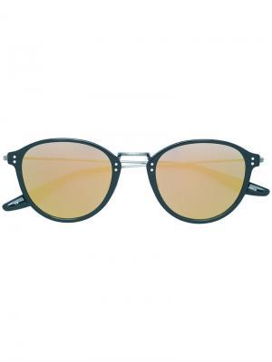 Солнцезащитные очки круглой формы Barton Perreira. Цвет: чёрный