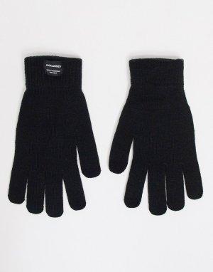 Черные вязаные перчатки -Черный цвет Jack & Jones