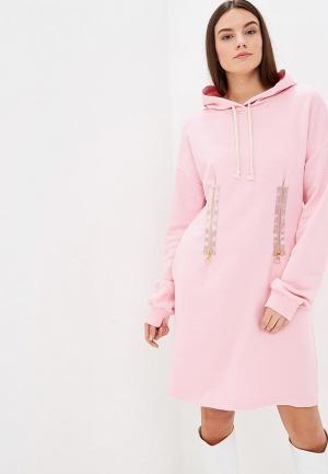 Платье Elle Land. Цвет: розовый
